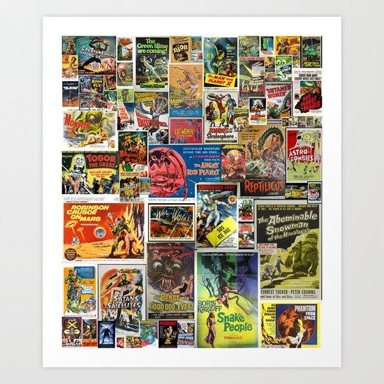 Vintage Sci-Fi Movie Posters  |  Collage Art Print
