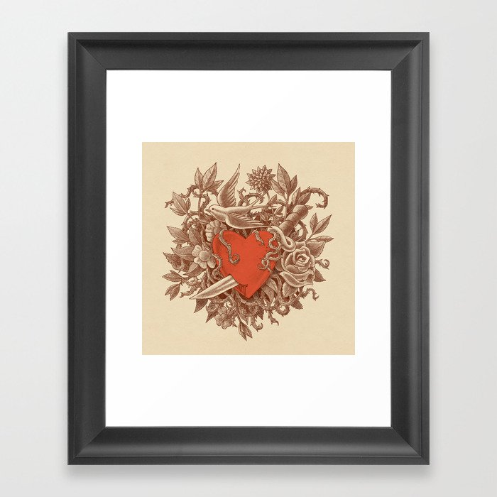 Heart of Thorns  Framed Art Print