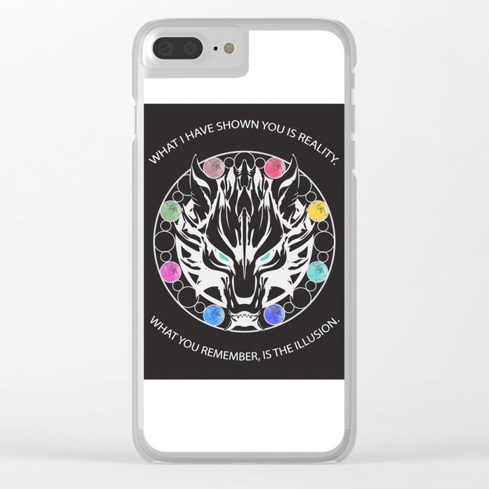 Silver Fenrir with Materia Clear iPhone Case