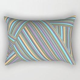 Abstract striped pattern. 4 Rectangular Pillow