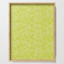 Chartreuse hand drawn pattern Serving Tray