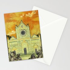 Santa Nouveau Stationery Cards