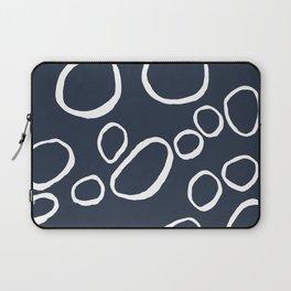 Daisy Circles Navy Laptop Sleeve