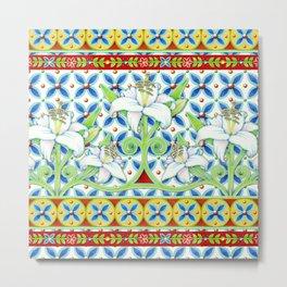 Extravagant Elizabethan Folkloric Lily Metal Print