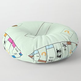 Monopoly Print Currency Game Floor Pillow