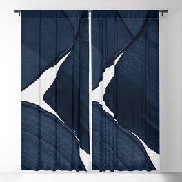 Minimalist Painting Blue II, Modern Abstract Blackout Curtain