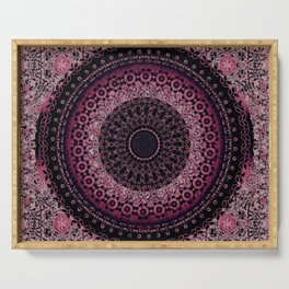 Rosewater Tapestry Mandala Serving Tray