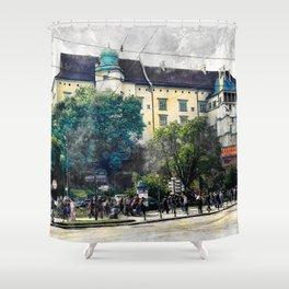 Cracow art 2 Wawel #cracow #krakow #city Shower Curtain
