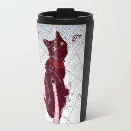 Cat on a Leash Travel Mug