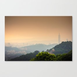 Chi Nan Temple in hills of Maokong, Taipei, Taiwan Canvas Print
