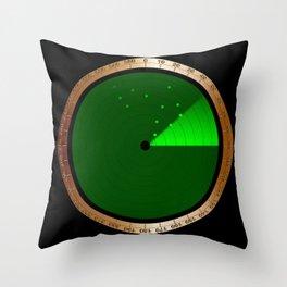 Detected Radar Throw Pillow