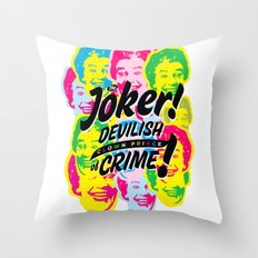 The Joker - Clown Prince of Crime Throw Pillow