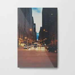 the streets of Chicago ... Metal Print