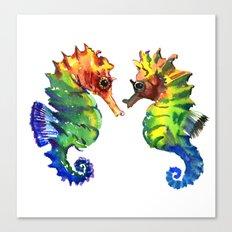 Love of Seahorses Canvas Print