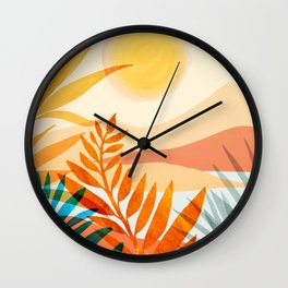 Golden Hour / Abstract Landscape Series Wall Clock