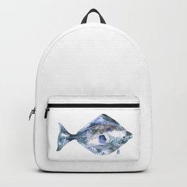 Flat Fish Watercolor Backpack