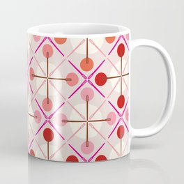Crosses & Dots (red + pink) Coffee Mug