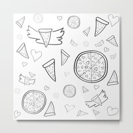 Fifty shades of... pizza! For pizza lovers only! Metal Print