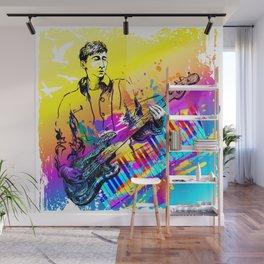 Musician guitar player. Jazz rock music festival concert Wall Mural