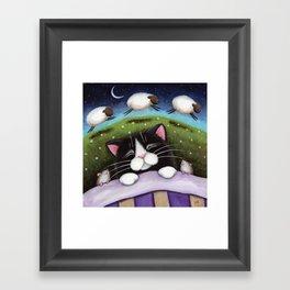Cat - Sheep Dreams Framed Art Print