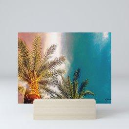 Arizona Sky Palm Trees Mini Art Print