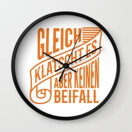 Gleich Klatscht Es Funny Mechanic Office Gift Wall Clock