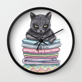 The Throne of the Cat Wall Clock