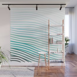 Blue Stripes Wall Mural