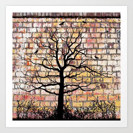Graffiti Tree Art Print