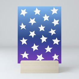 Gradient Stars Mini Art Print