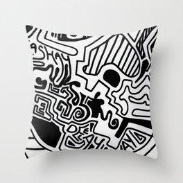 Print work  Throw Pillow