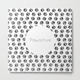 Pawsitive - dog lover animals pattern Metal Print