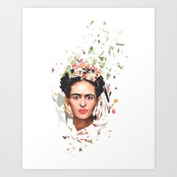 frida Art Prints featuring Frida by Tracie Andrews