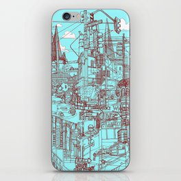 San Francisco! (Turquoise) iPhone Skin