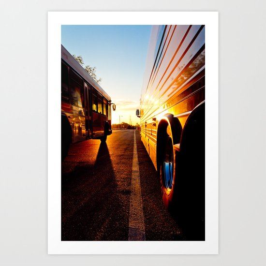 Two at Dusk Art Print