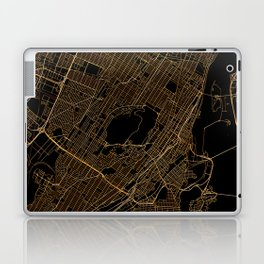Black and gold Montreal map Laptop & iPad Skin
