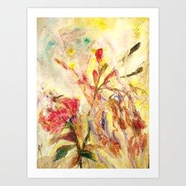 Sensual flower 4 Art Print