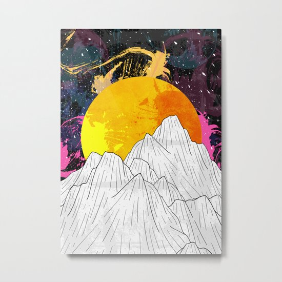 Cosmos Mounts Metal Print
