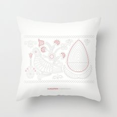 Hungarian Embroidery no.13 Throw Pillow