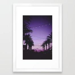 Tropical Summer Night Framed Art Print
