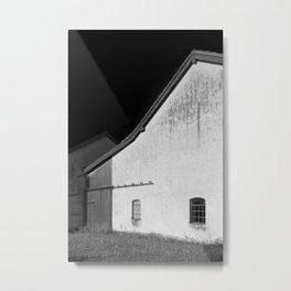 Black and White Barn, Germany Metal Print