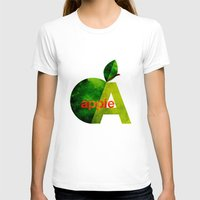 apple T-shirts featuring apple by John Beswick