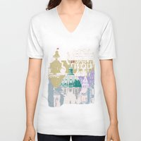 copenhagen V-neck T-shirts featuring Copenhagen Collage by Tokyo Rose