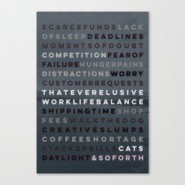 An Artist's Life Canvas Print