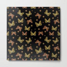Insects Motif Pattern Metal Print