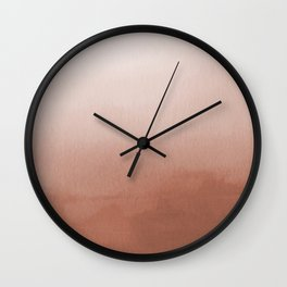 Sherwin Williams Cavern Clay SW7701 Abstract Watercolor Ombre Blend - Gradient Wall Clock