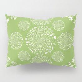 Greenery Love Symbol Mandala Pillow Sham