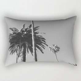 Palm Trees (Black and White) Rectangular Pillow