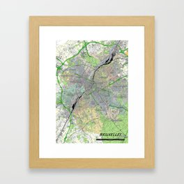 bruxelles in colour Framed Art Print