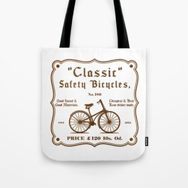 Classic Safety Bicycles Tote Bag